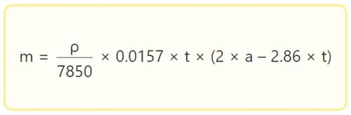 Формула для расчета веса одного погонного метра квадратной трубы