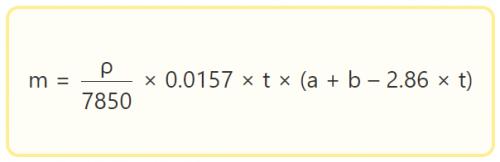 Формула для расчета веса одного погонного метра прямоугольной трубы