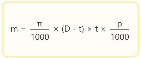 Формула расчета веса стальной трубы