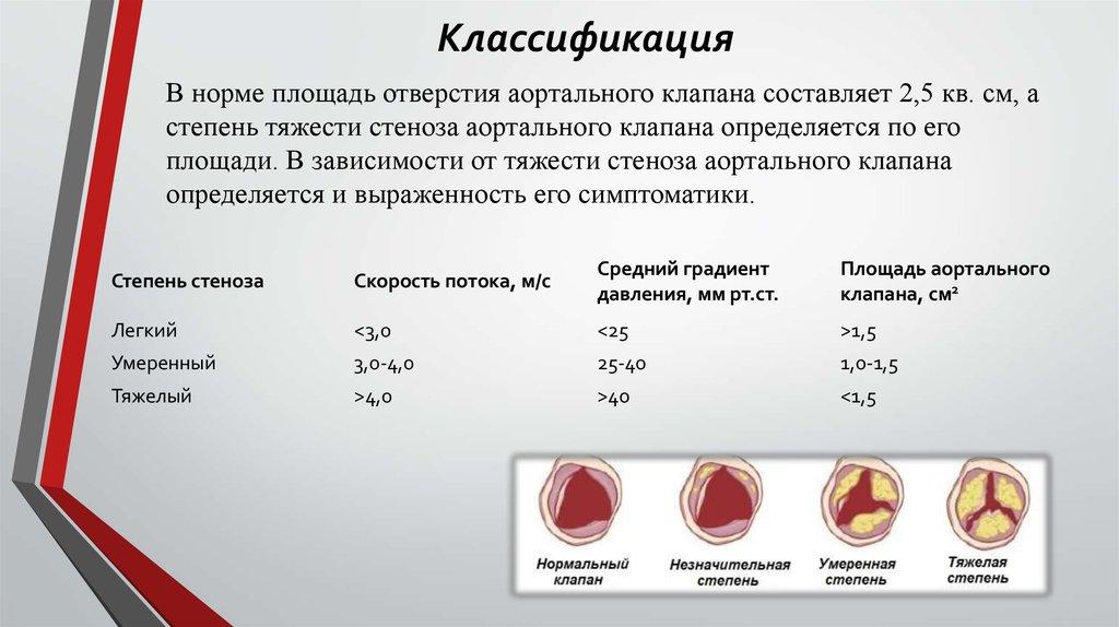 Площадь аортального клапана