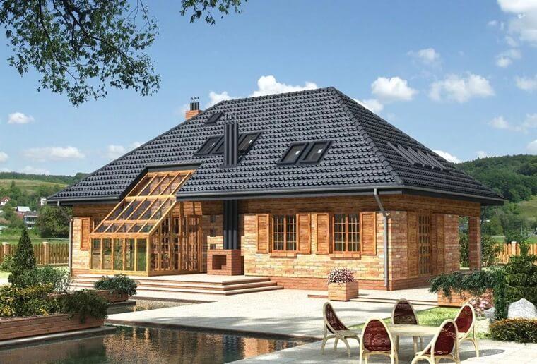 Фото Дом с вальмовой крышей