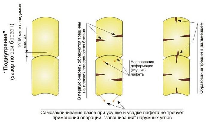 Особенности срубов из лафета