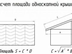 Вес стропильной системы односкатной крыши