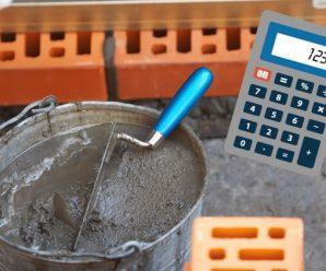 калькулятор строительного раствора